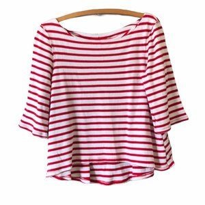 We The Free Red White Striped Top Size XS
